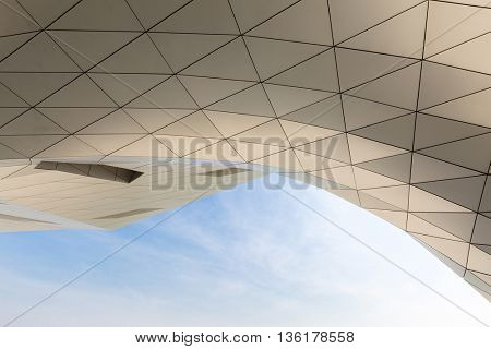 LYON, FRANCE - MAR 15 :Architecture of Musee des Confluences on March 15, 2016. This is a science centre and anthropology museum which opened on 20 December 2014.