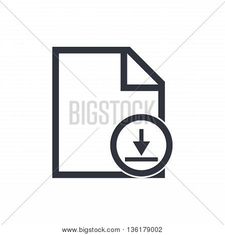 File Download Icon In Vector Format. Premium Quality File Download Symbol. Web Graphic File Download