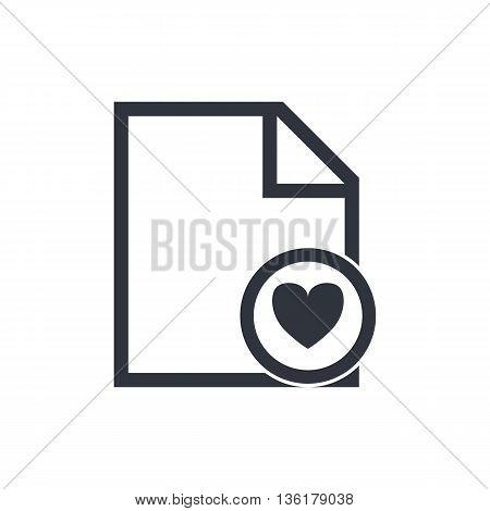 File Heart Icon In Vector Format. Premium Quality File Heart Symbol. Web Graphic File Heart Sign On