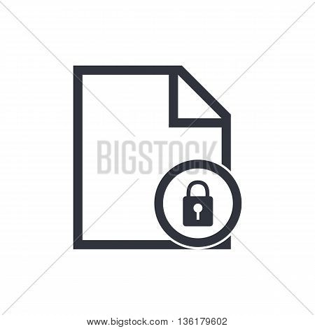 File Lock Icon In Vector Format. Premium Quality File Lock Symbol. Web Graphic File Lock Sign On Whi