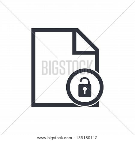 File Open Icon In Vector Format. Premium Quality File Open Symbol. Web Graphic File Open Sign On Whi