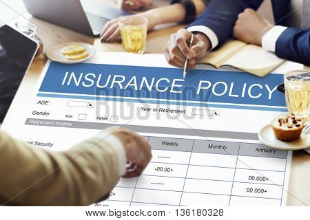 Retirement Plan Insurance Benefits Healthcare Concept