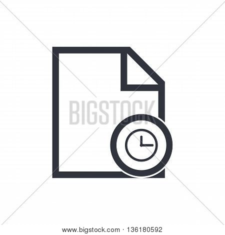 File Time Icon In Vector Format. Premium Quality File Time Symbol. Web Graphic File Time Sign On Whi