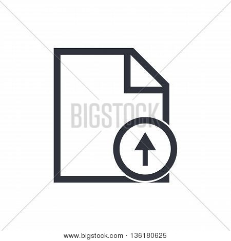 File Up Icon In Vector Format. Premium Quality File Up Symbol. Web Graphic File Up Sign On White Bac