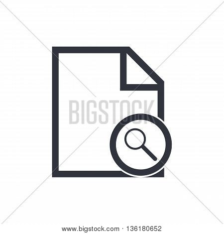 File Zoom Icon In Vector Format. Premium Quality File Zoom Symbol. Web Graphic File Zoom Sign On Whi