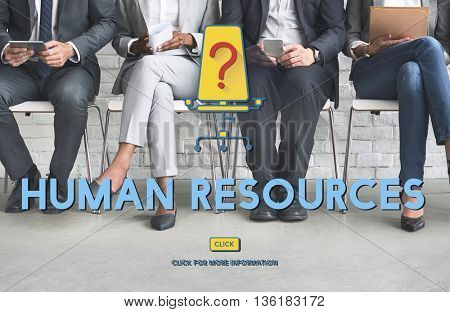 Human Resources Hiring Recruitment Work Concept