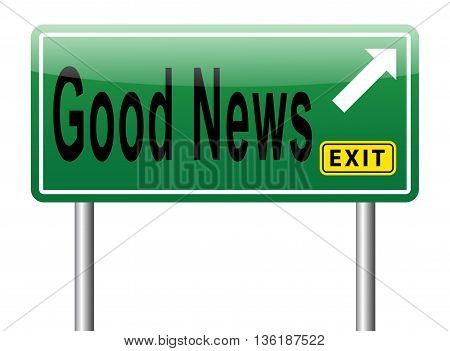 Good News Road Sign