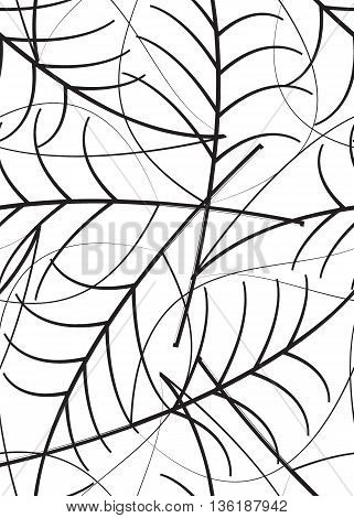 Vector illustration of seamless background of leaves