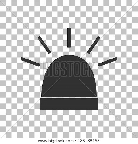 Police single sign. Dark gray icon on transparent background.