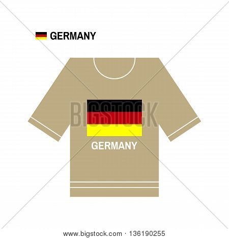 Vector German t-shirt symbol. Germany National sport team isolated on white. European Championship.