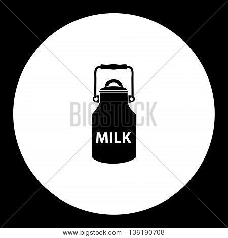 Bottle Of Milk Simple Black Isolated Icon Eps10