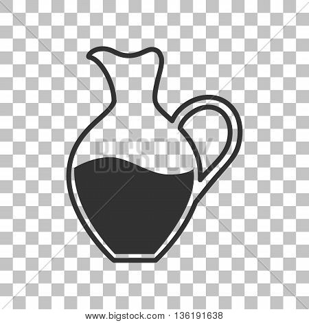 Amphora sign. Dark gray icon on transparent background.