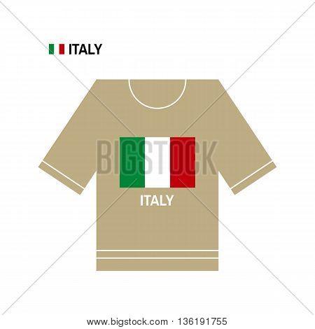 Vector Italian t-shirt symbol. Italy National sport team isolated on white. European Championship.