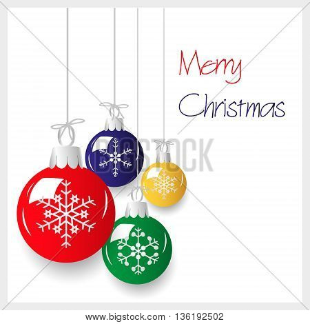 Shiny Colorful Christmas Decoration Baubles Hanging Eps10
