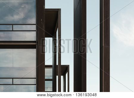 Building architecture in the north of Copenhagen, Denmark