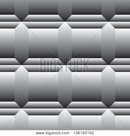 Vector illustration of tile for floor. Gray colors