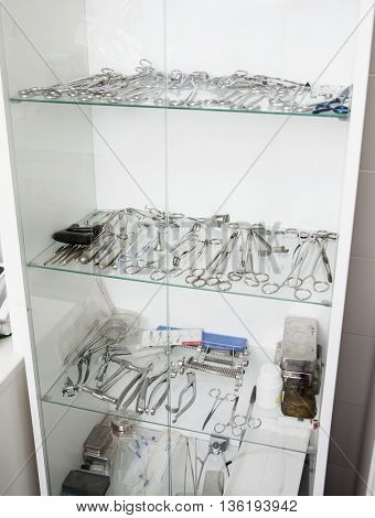 Surgical Equipment In Veterinary Clinic
