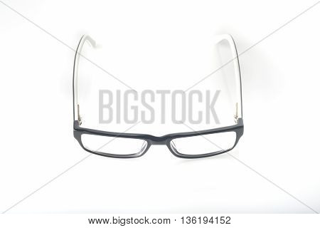 Eyeglasses on White Background Shot in Studio