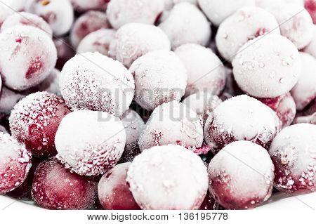 ripe and tasty cherry frozen, great dessert
