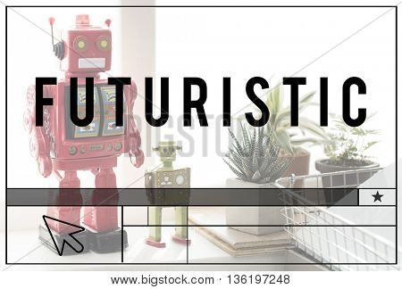 Futuristic Robotic Model Innovation Technology Concept