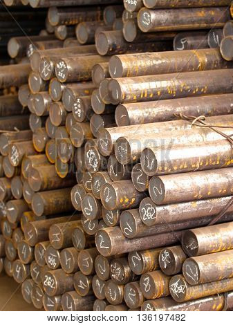 metal round billets for further processing, steel