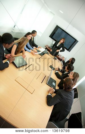 Group of business people in a conference room