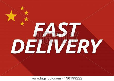 Long Shadow China Flag With    The Text Fast Delivery