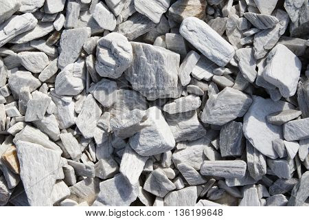 Large and small decorative building slate as a background