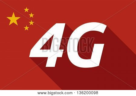 Long Shadow China Flag With    The Text 4G
