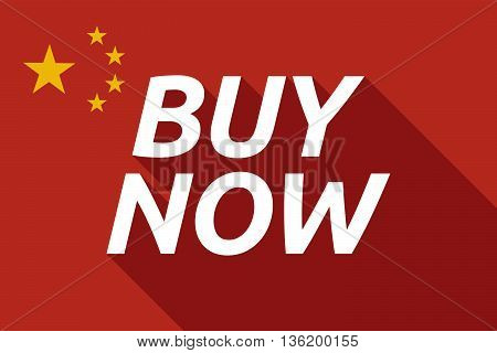 Long Shadow China Flag With    The Text Buy Now
