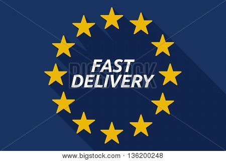 Long Shadow European Union Flag With    The Text Fast Delivery