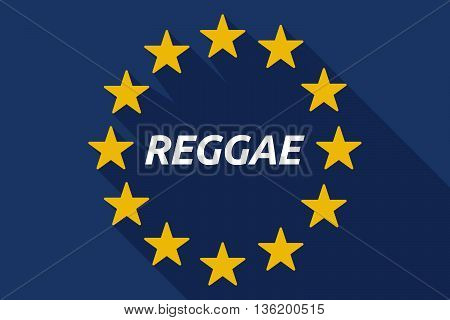 Long Shadow European Union Flag With    The Text Reggae