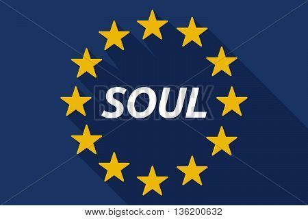 Long Shadow European Union Flag With    The Text Soul