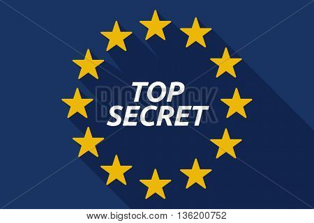 Long Shadow European Union Flag With    The Text Top Secret