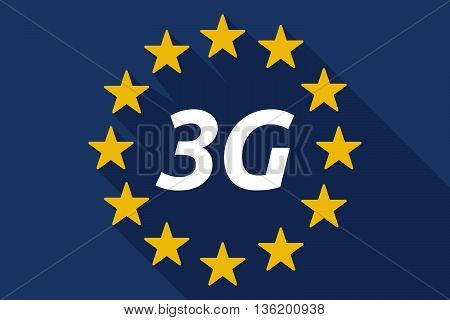 Long Shadow European Union Flag With    The Text 3G