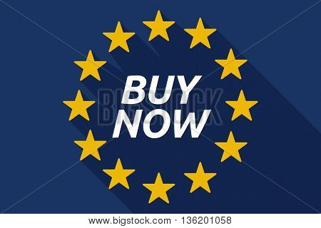 Long Shadow European Union Flag With    The Text Buy Now