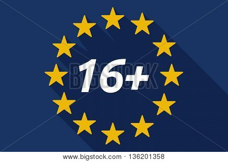 Long Shadow European Union Flag With    The Text 16+