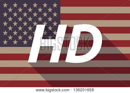 Long Shadow Usa Flag With    The Text Hd
