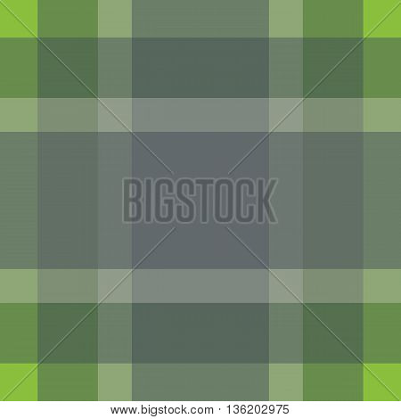 Seamless British Pattern Background. Plaid Green Grey Palette Tartan Pattern. Repeated Twill Texture