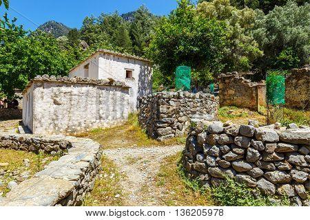 Displaced Village Samaria In Samaria Gorge In Central Crete, Greece