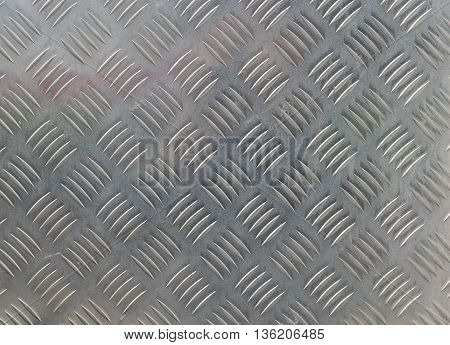 metal diamond plate in silver color background