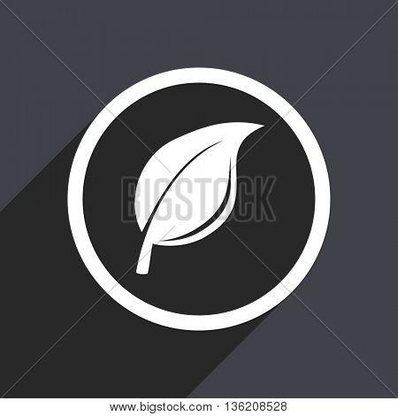 Flat design gray web ecology vector icon