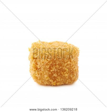 Breaded crab ball isolated over the white background