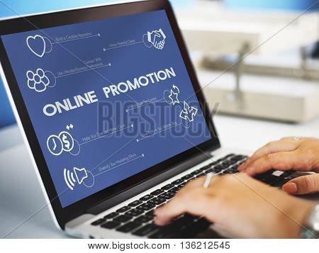 Online Promotion Marketing Advertisement Concept