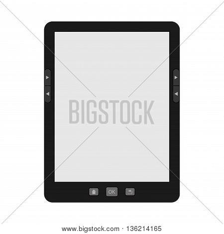 Vector illustration of a portable modern tablet e-book reader.