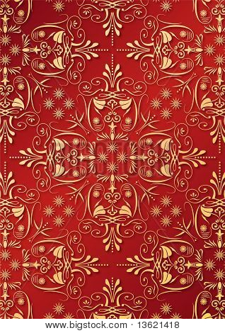 red and golden gift paper