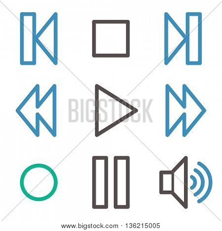 Media player web icons
