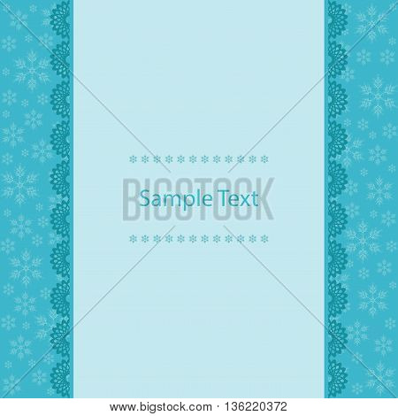 Christmas Greeting Card. Merry Christmas image in blue tones