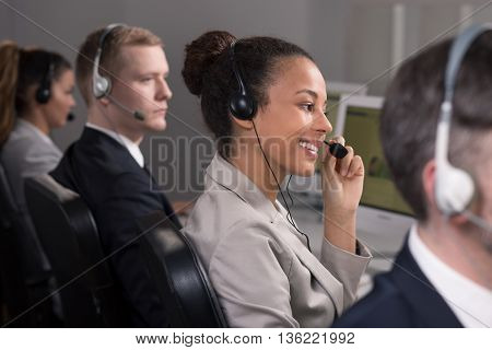 Hard work of consultants in call center