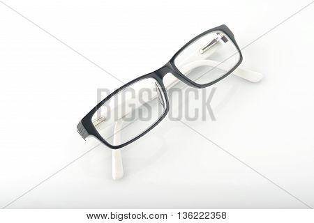 Eyeglasses Isolated on White Background Shot in Studio